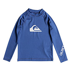 Гидрофутболка детская Quiksilver All Time Kid Electric Real Blue