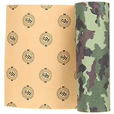 Шкурка для скейтборда Footwork Camo Green Die-cut Лого Green