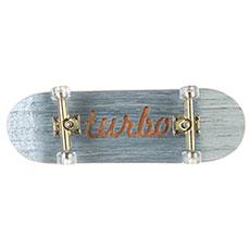 Фингерборд Turbo-FB П10 Гравировка Light Blue/Gold/Clear