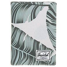 Обложка на паспорт Herschel Raynor Passport Holder Rfid Silver Birch Palm