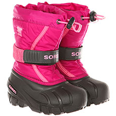 Ботинки зимние детские Sorel Childrens Flurry Deep Blush Tropic Pink