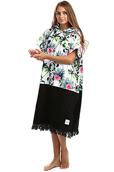 Пончо женское Rip Curl Black Sands Hooded Towel White