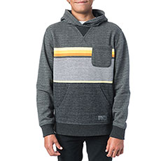 Толстовка кенгуру детская Rip Curl Yarn Dyed Stripe Hooded Fleece Dark Marle