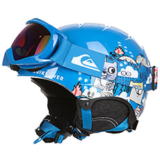 Шлем для сноуборда детский QUIKSILVER Game Pack Daphne Blue animal P