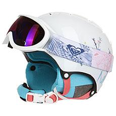 Шлем для сноуборда женский Roxy Misty Girl Pck Bright White animals
