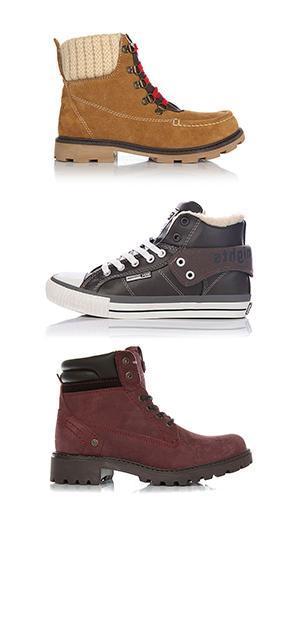 Зимние кеды</br>и ботинки