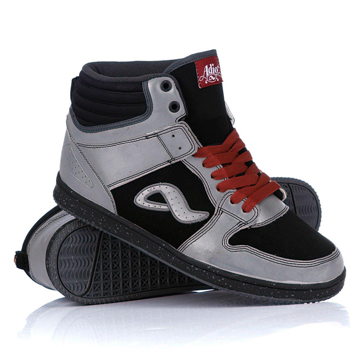 19b78652 Купить кеды высокие Adio Ruckus Grey/Black/Maroon (101112skladmel28 ...
