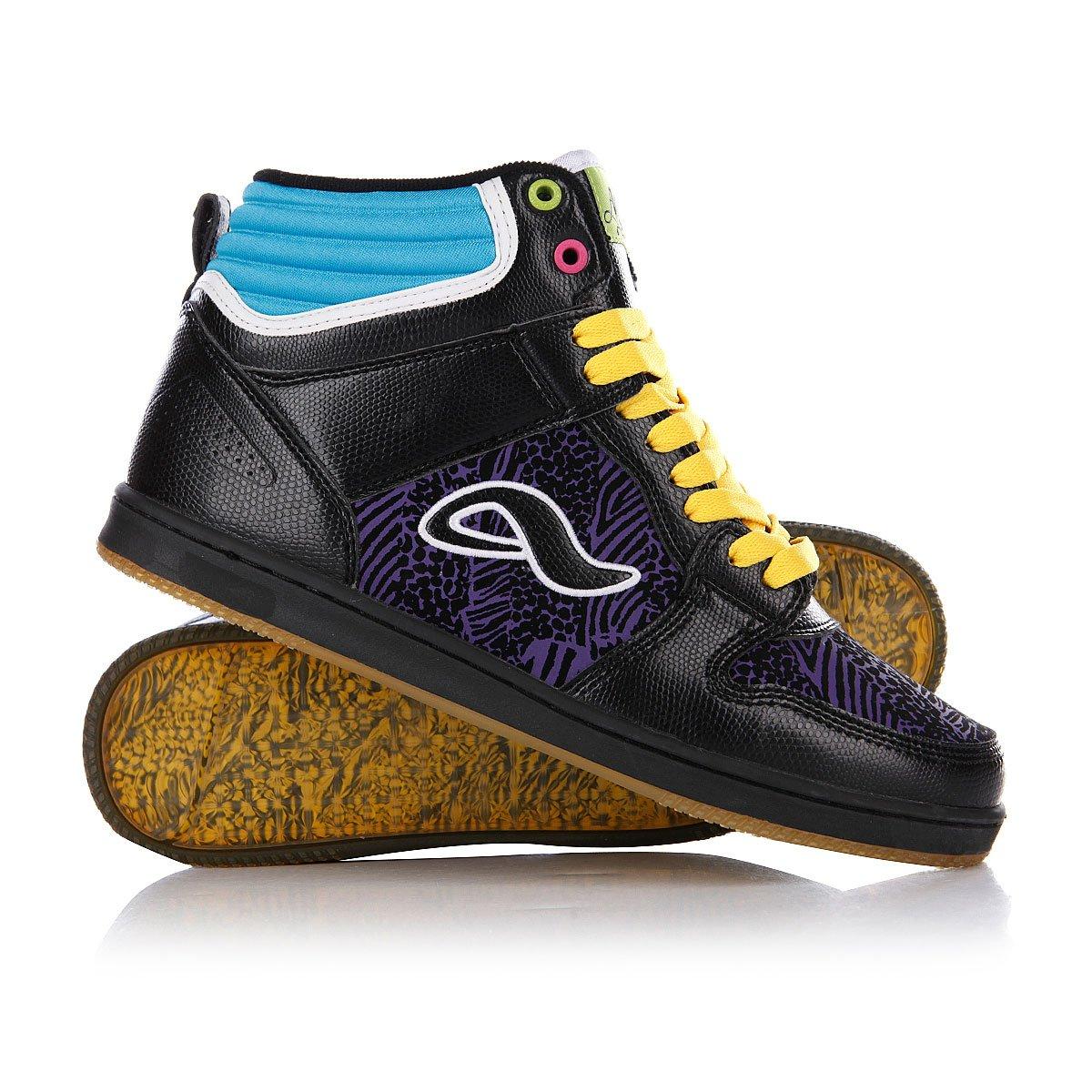 9982420c Купить кеды высокие Adio Ruckus Black/Purple/Yellow (fixed_price) в ...