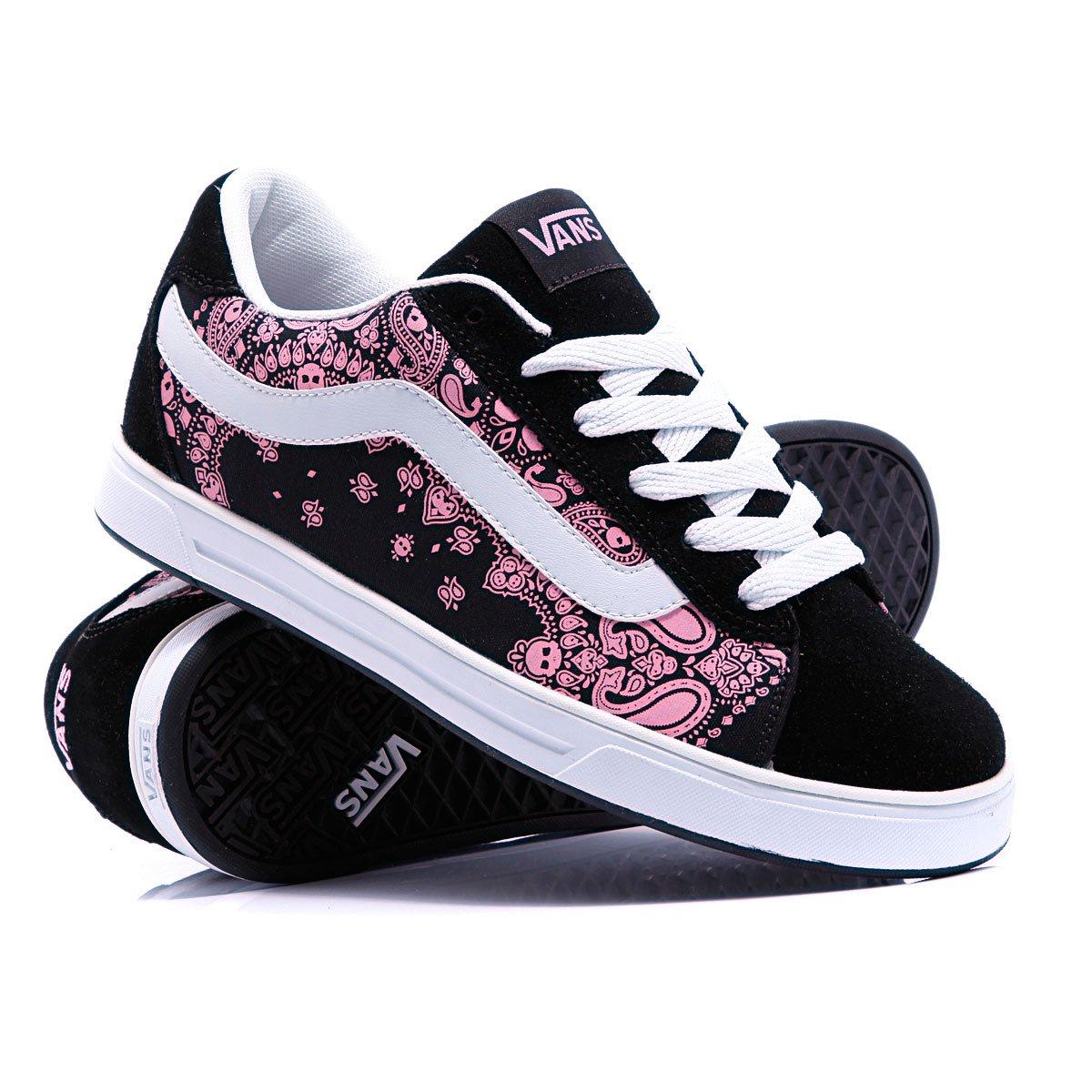 Купить кеды женские Vans Mercer Skull Paisley Black Pink (070711vans54) в  интернет-магазине Proskater.by 946841a2d53