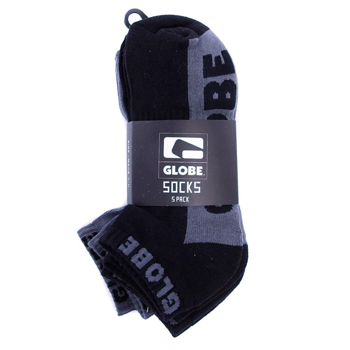 Носки Globe New Tradie Ankle Black/Grey (5-Pack)