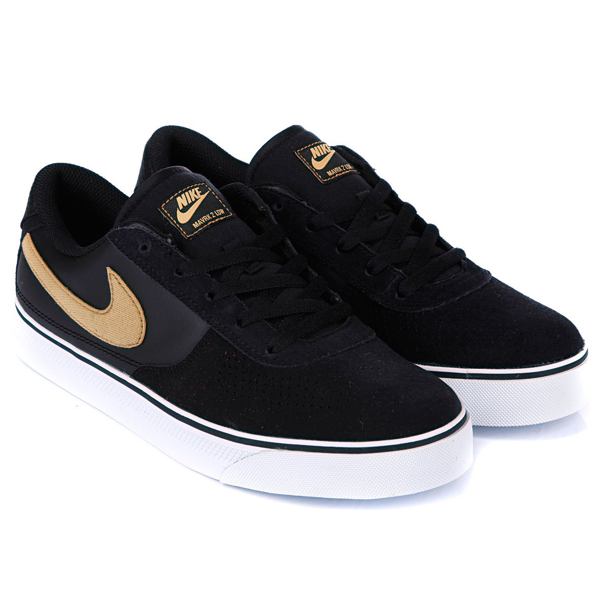 fb98e6d171fe Купить кеды Nike Mavrk Low 2 Black Metallic Gold (442477-071) в ...