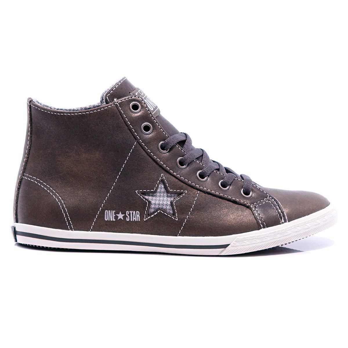 19c89f8c3bb4 Купить кеды высокие Converse One Star Lo Pro Mid Pewter ...