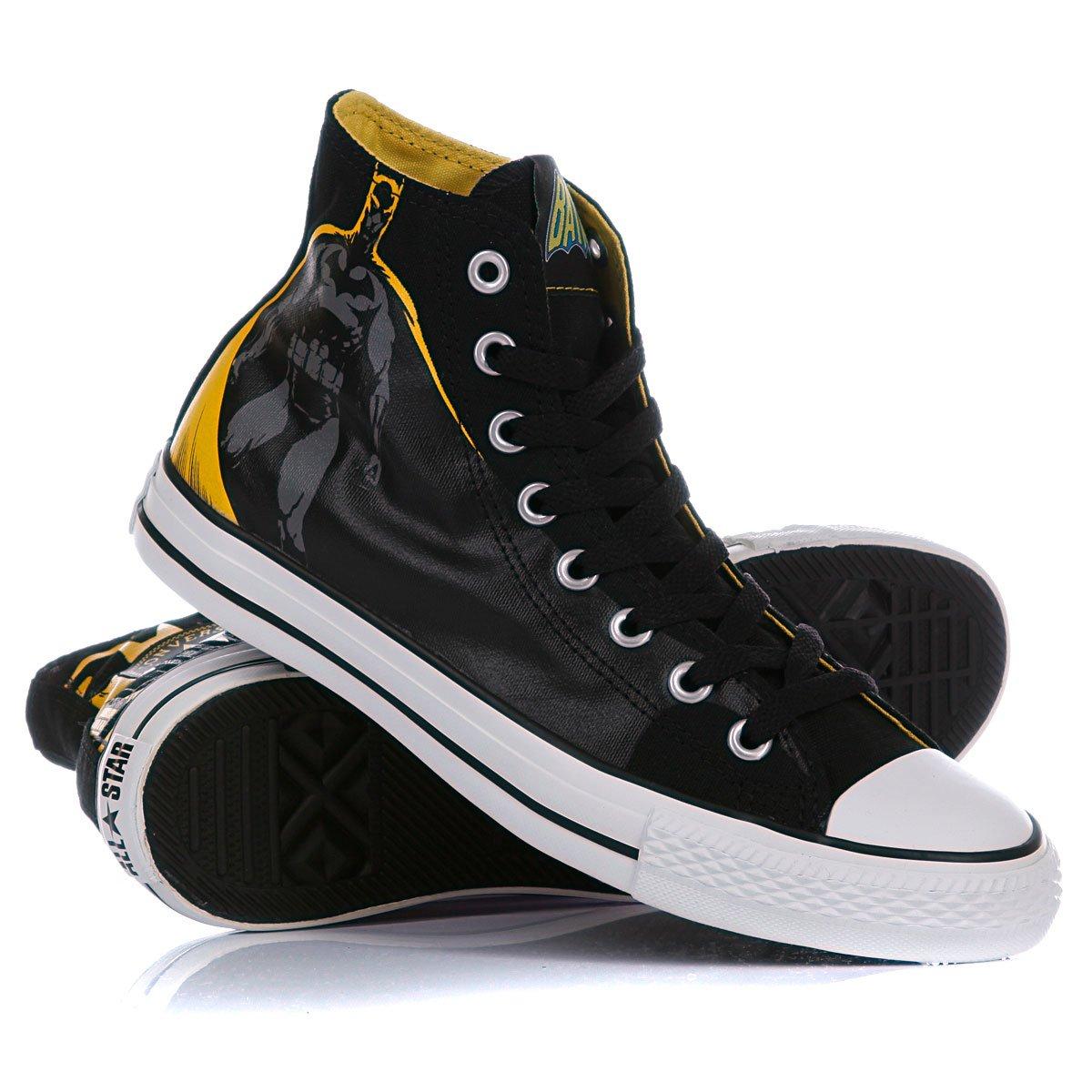 Купить кеды высокие Converse Chuck Taylor Dc Batman Hi Black Yellow ... 26faecfa2b65c