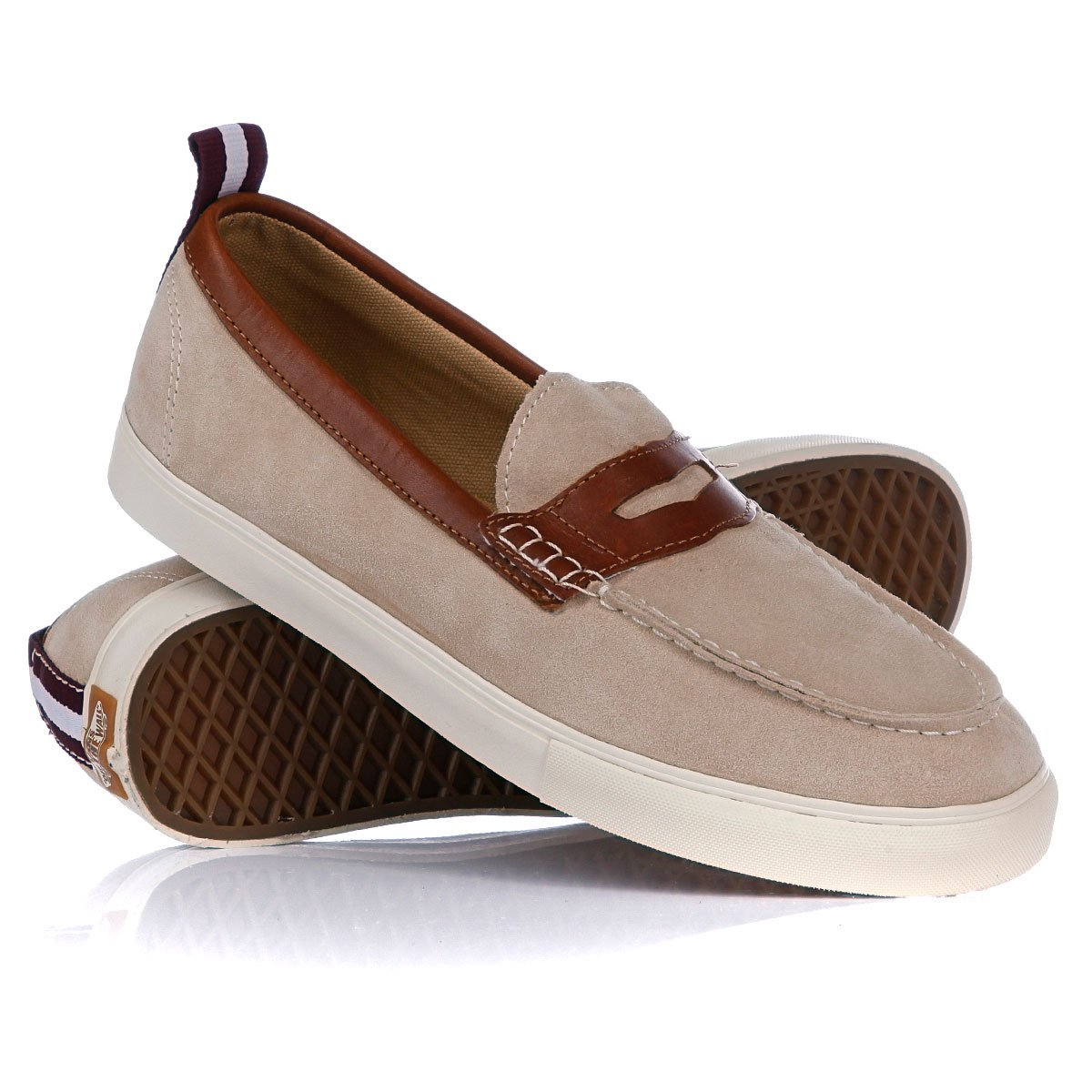 03df7ee158d Купить мокасины Vans Lp Penny Loafer Ca Suede Leather Taupe Brown ...