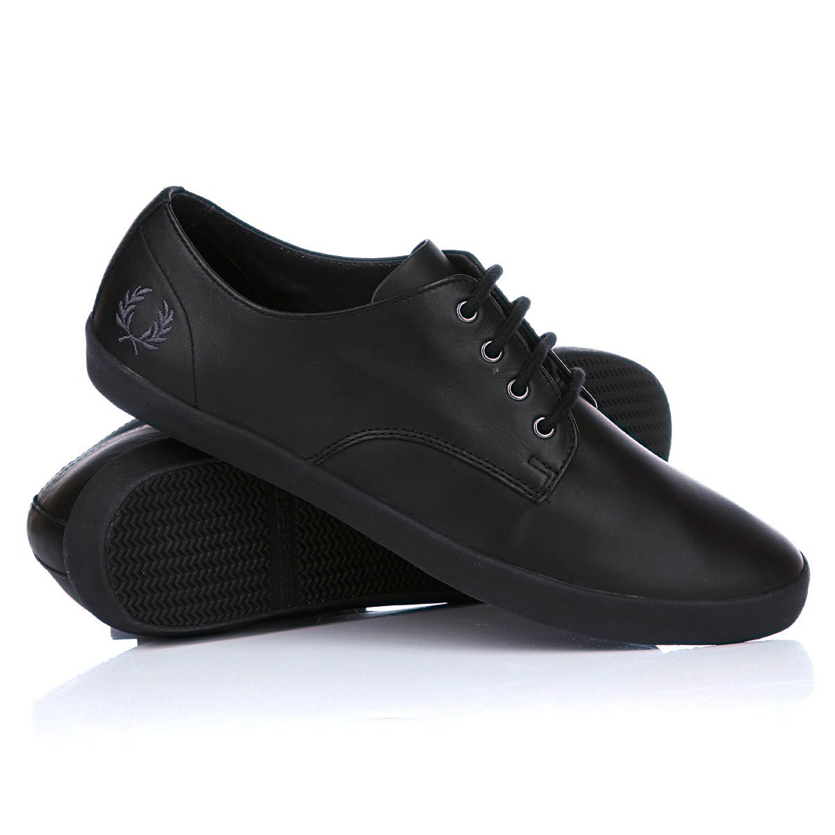 3d7e3410 Купить кеды Fred Perry Foxx Leather Black/Black (111012shoesfred11 ...
