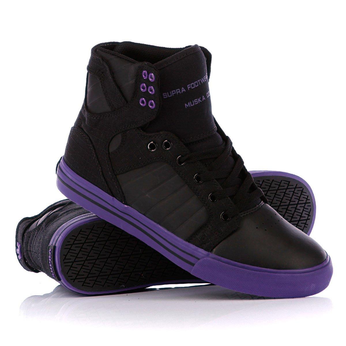 6702b12e Купить кеды высокие Supra Skytop Black/Purple/Purple в интернет ...