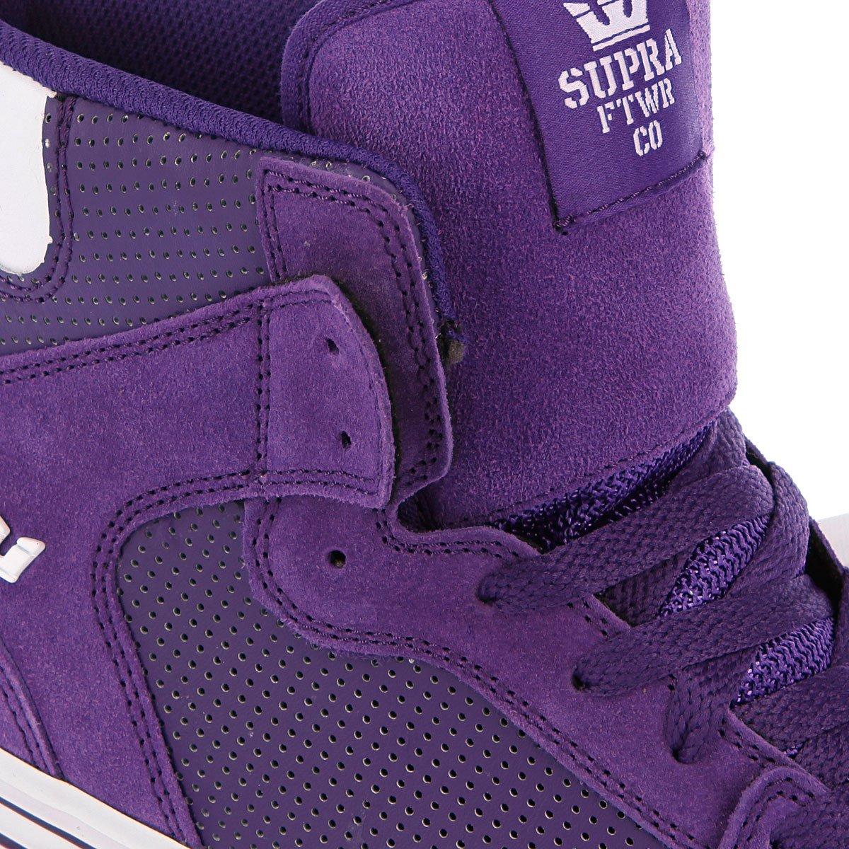 91fc9932 Купить кеды высокие Supra Vaider Purple/White в интернет-магазине ...