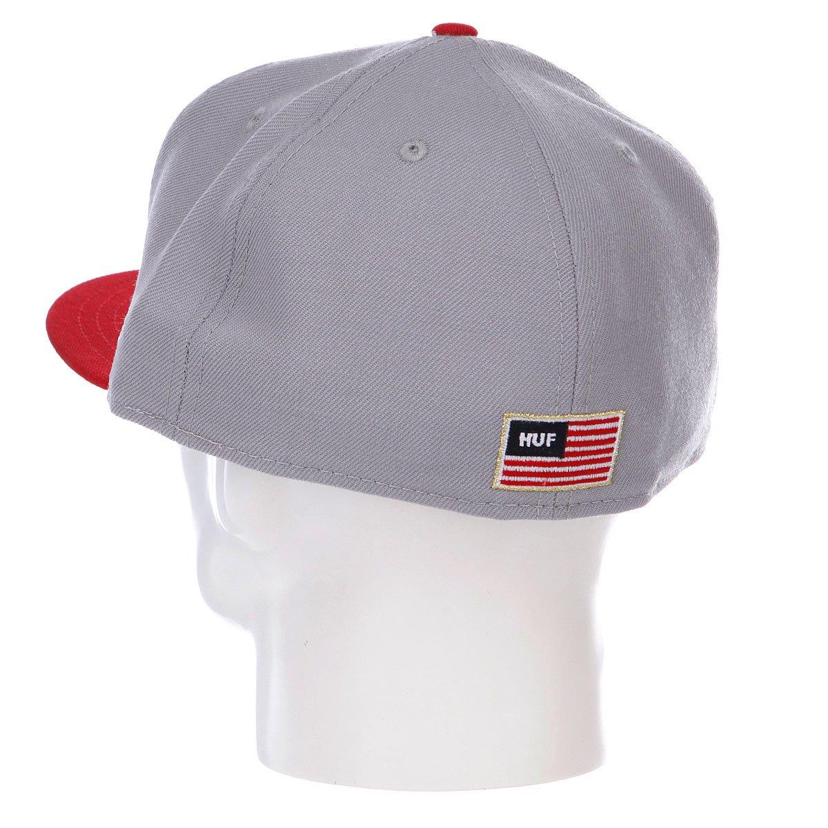 Бейсболка New Era Huf Usa NewEra Gray/Red