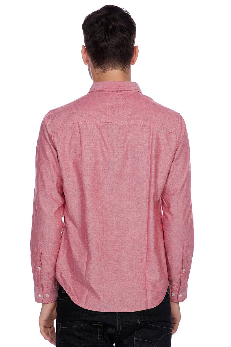 Рубашка Huf Classic Chambray L/S Woven Red