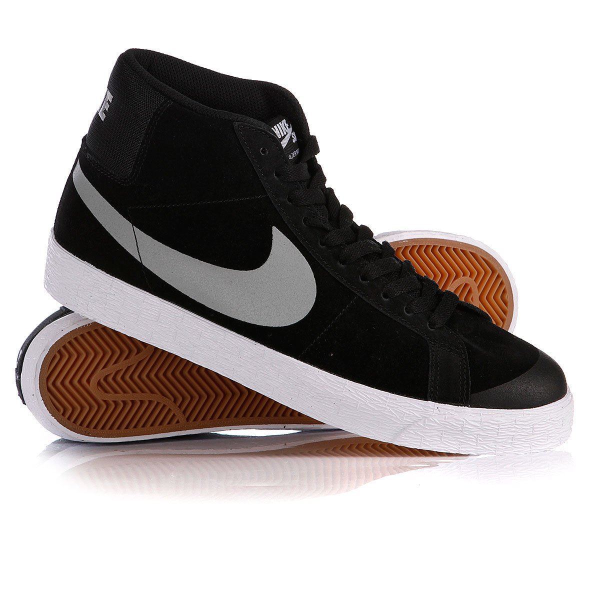 cc500c39 Купить кеды высокие Nike Blazer Sb Premium Se Black/Base Grey ...