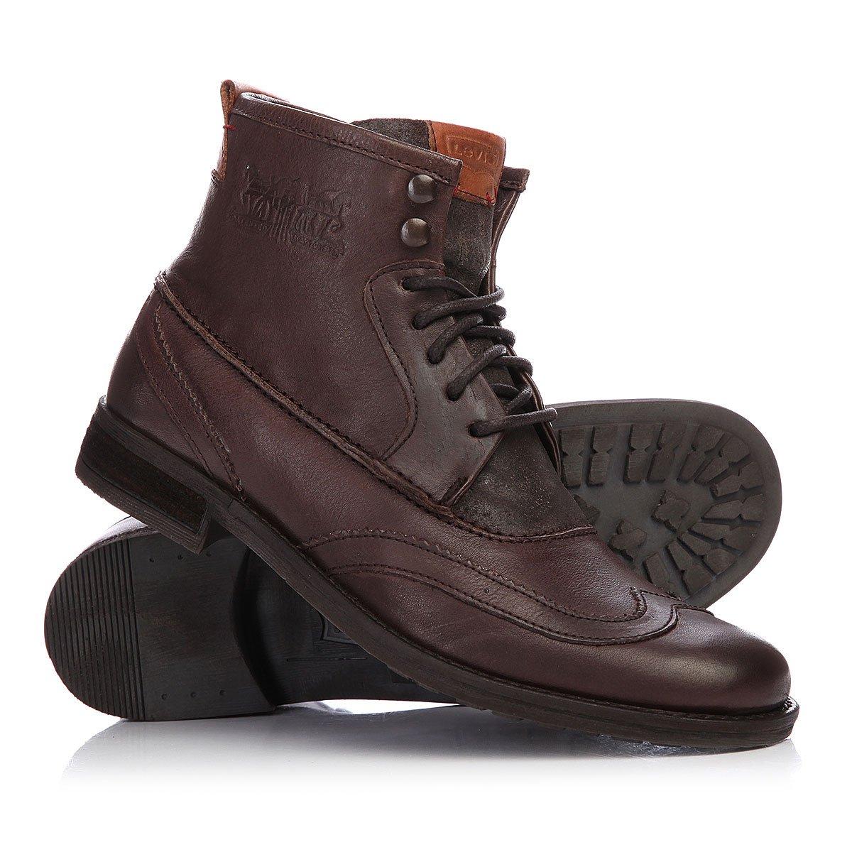 df03cd7b Купить ботинки Levis Maine Lace Up Wing Tip Dark Brown в интернет ...