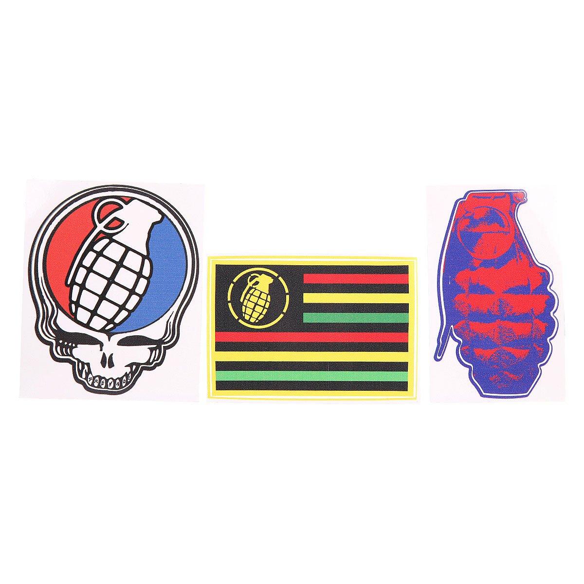 Наклейки Grenade Official Grenade Sticker Pack Multi Colour