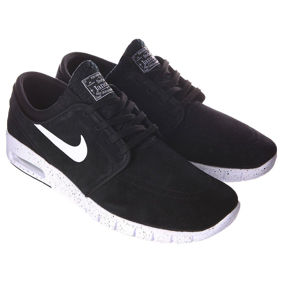 timeless design 56855 96298 ... Кроссовки Nike Stefan Janoski Max L Black White ...