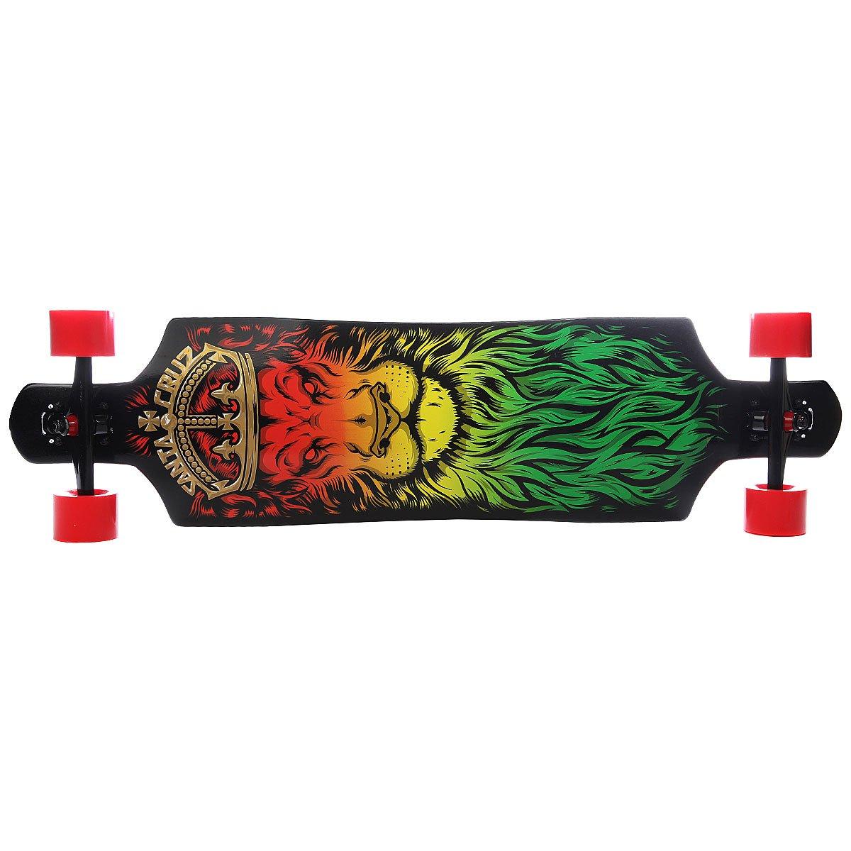 Лонгборд Santa Cruz Lion God Drop Thru Cruzer Black/Yellow/Red/Green 10 X 40 (101.6 см)