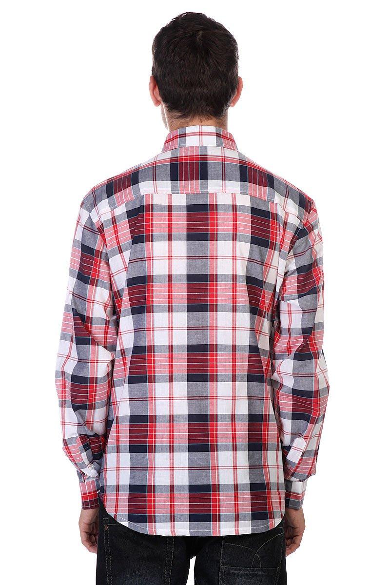 Рубашка в клетку Huf Vamos L/S Woven Navy