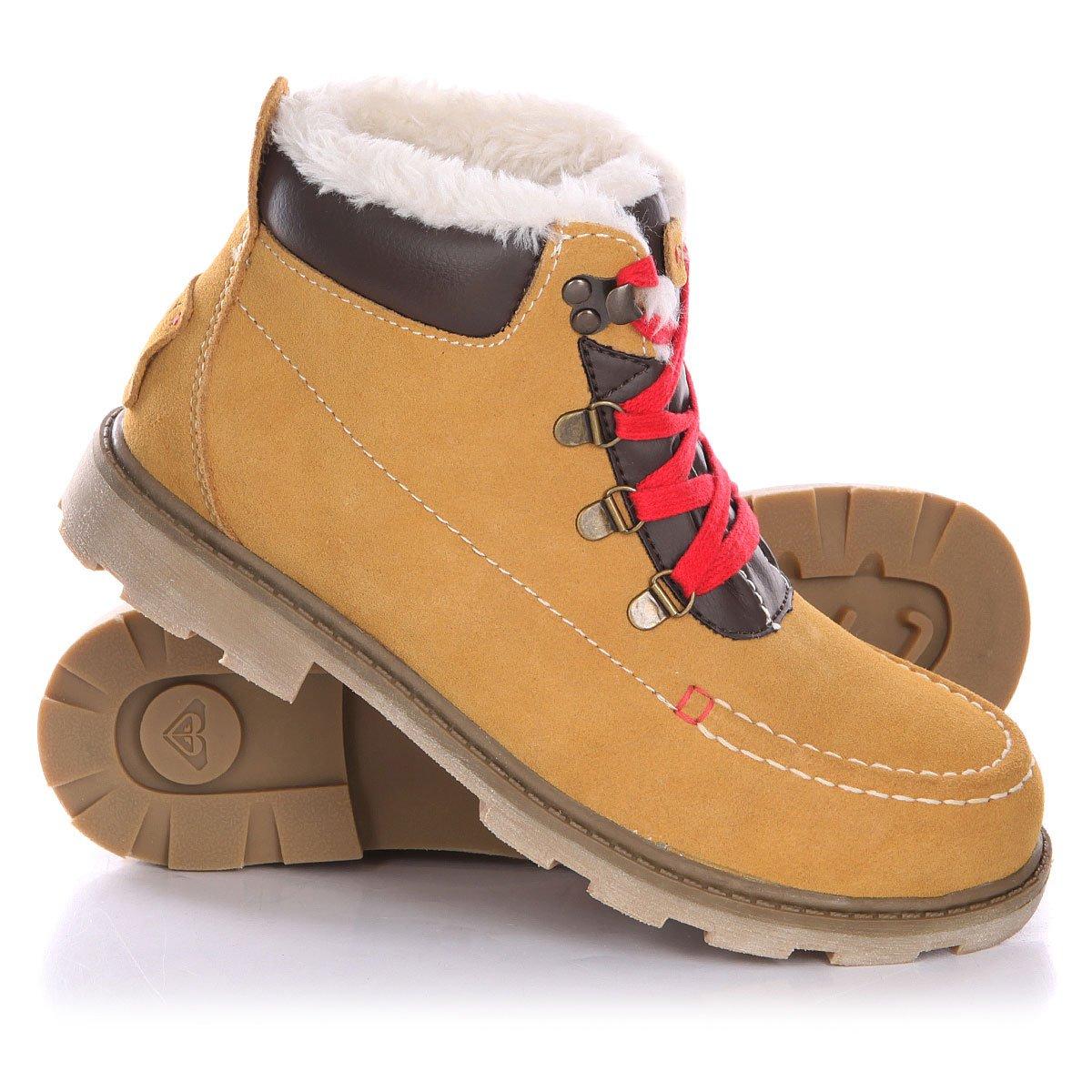 51bba4739c51 Купить ботинки зимние женские Roxy Greta J Boot Tan (ARJB700245-TAN ...