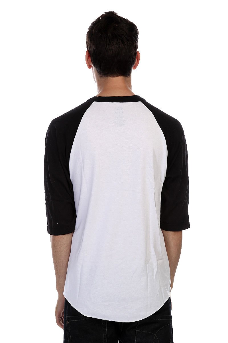 Лонгслив Diamond Simplicity Raglan White/Black