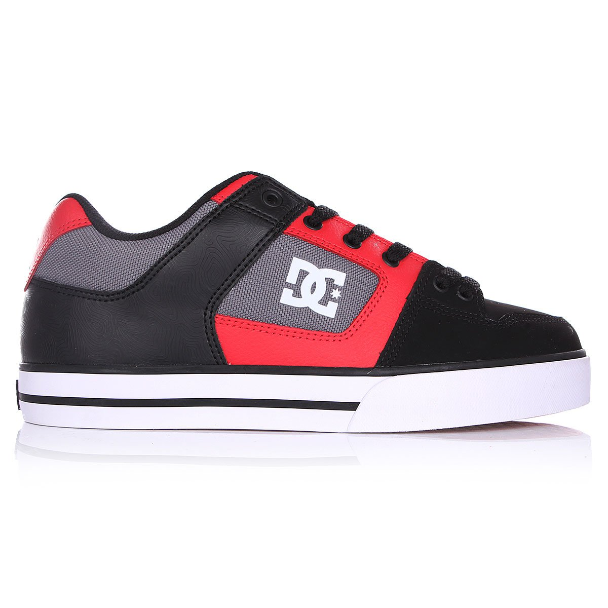DC Pure Black//Athletic Red//Black