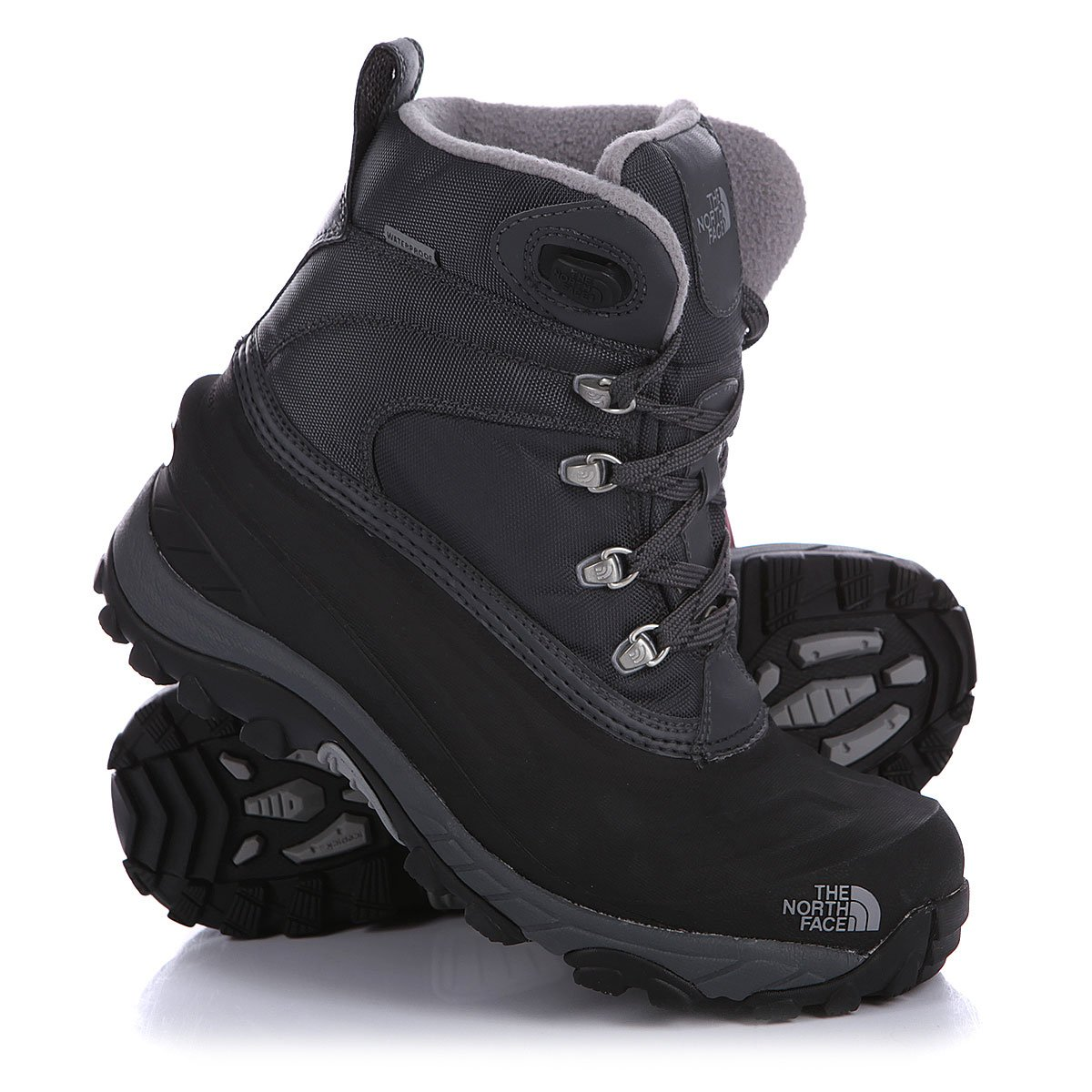 Купить ботинки зимние The North Face Chilkat Ii Nyl Eu Black Grey в ... 92556b2bf50