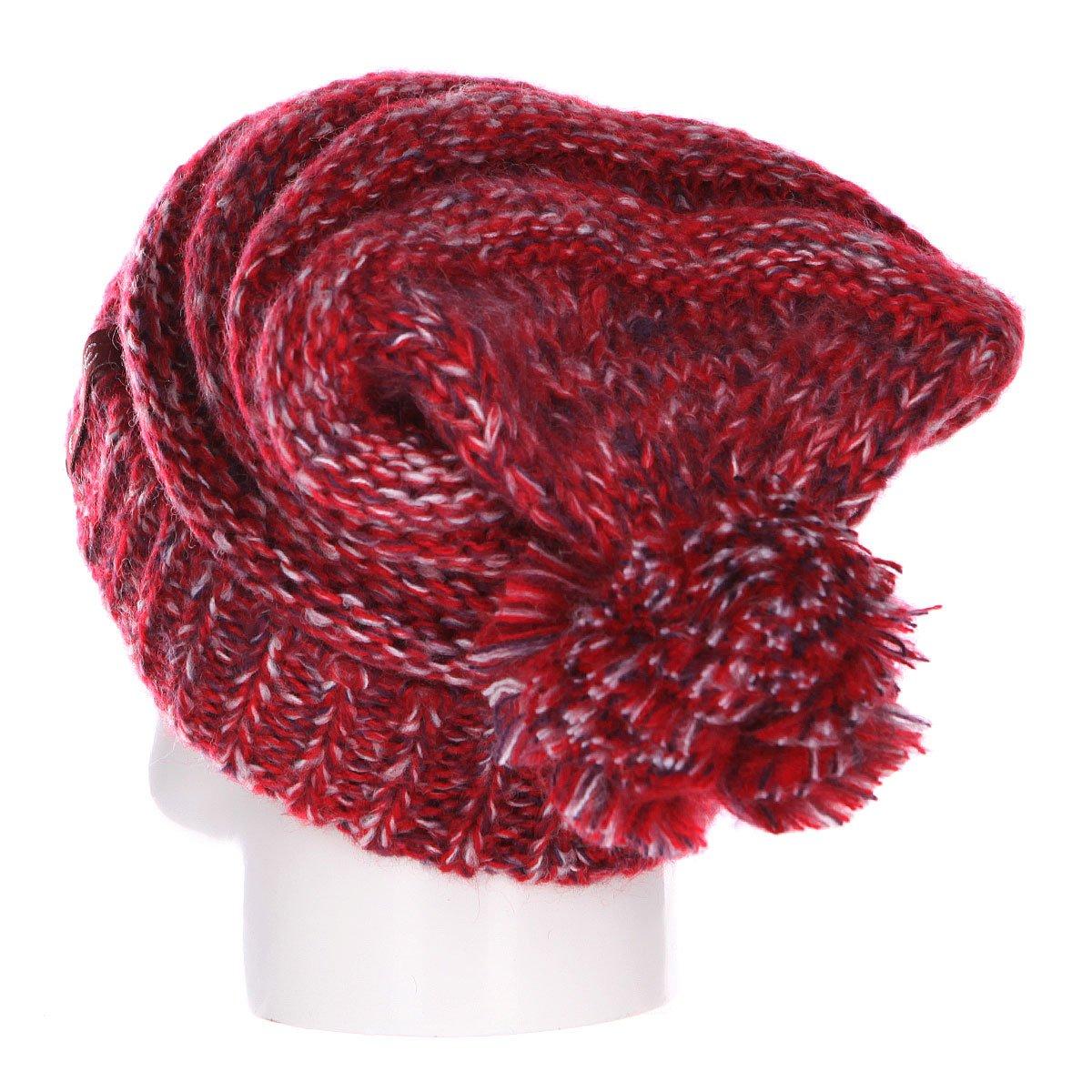 Шапка носок женская Dakine Scruntch Crimson Mix