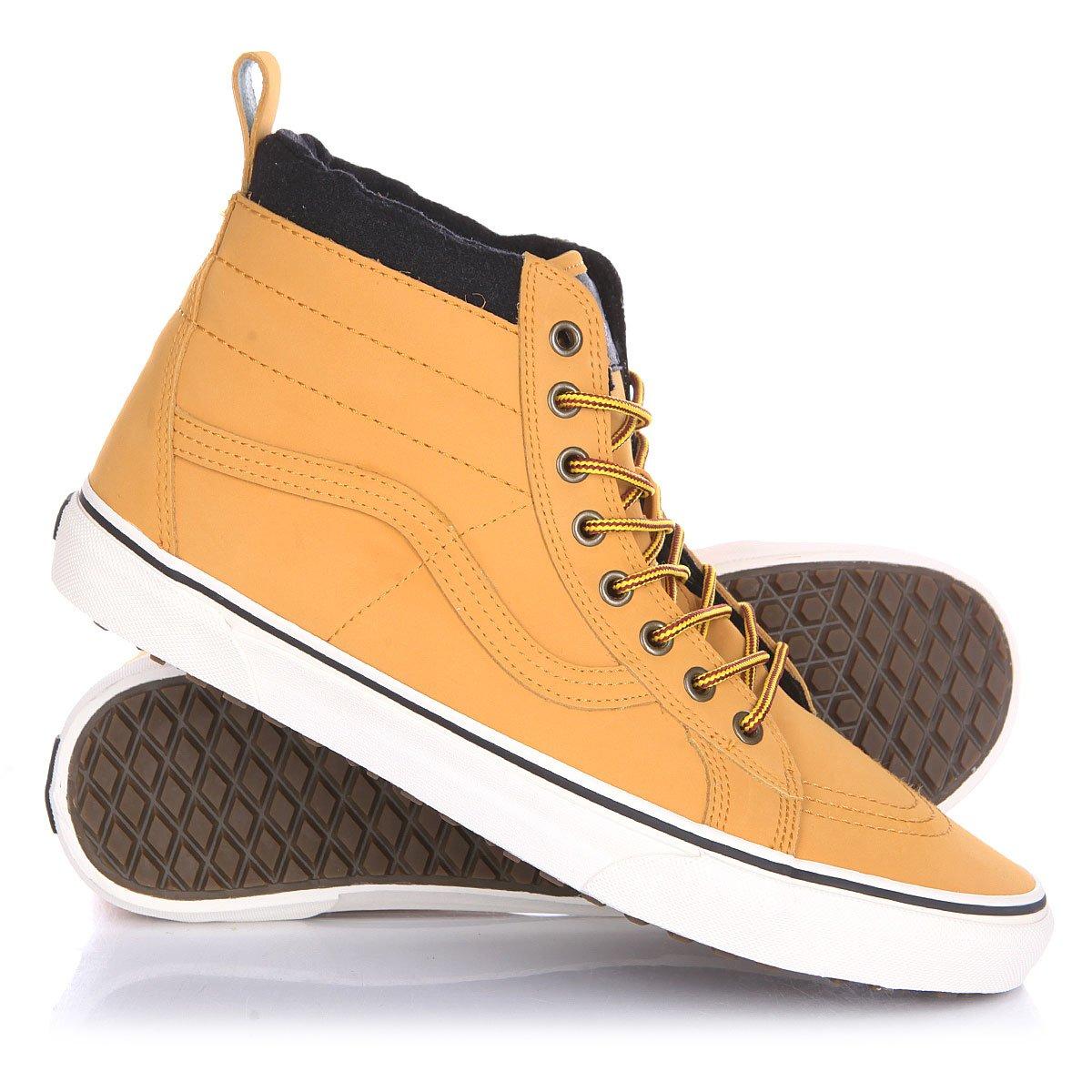 02ec4fe3e242 Купить кеды высокие Vans Sk8 Hi Mte Honey Leather в интернет-магазине  Proskater.by
