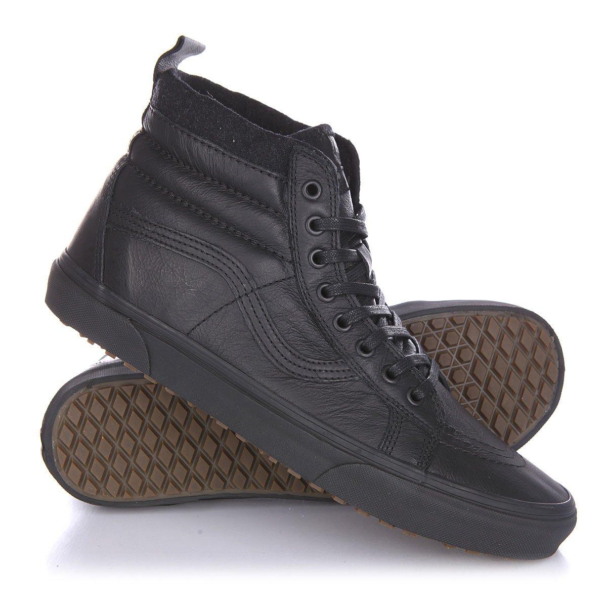 bdccab5185cf Купить кеды высокие Vans Sk8 Hi Mte Black Leather в интернет ...