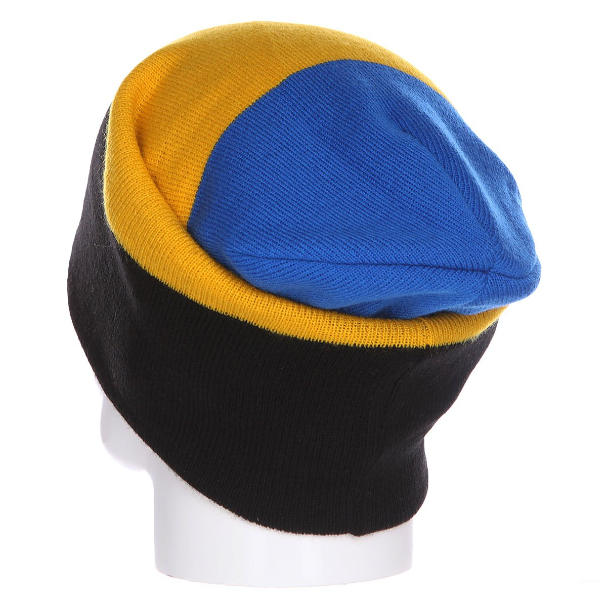 Шапка носок Shweyka Trio Beanie Blue/Yellow/Dark Grey