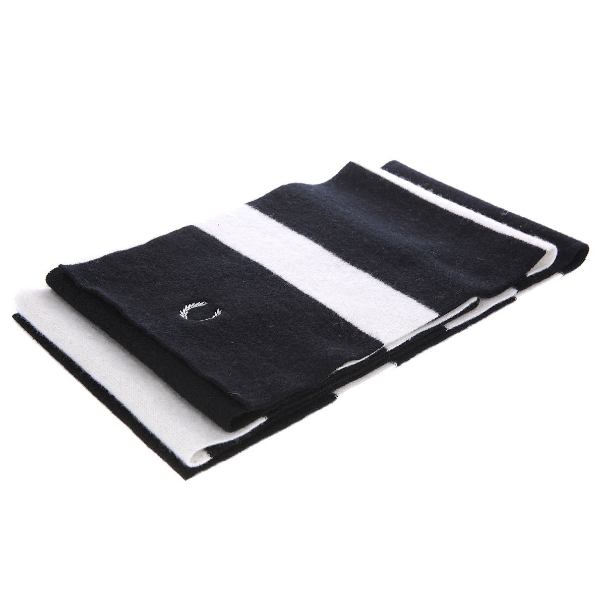 Шарф Fred Perry Striped Scarf Black/White