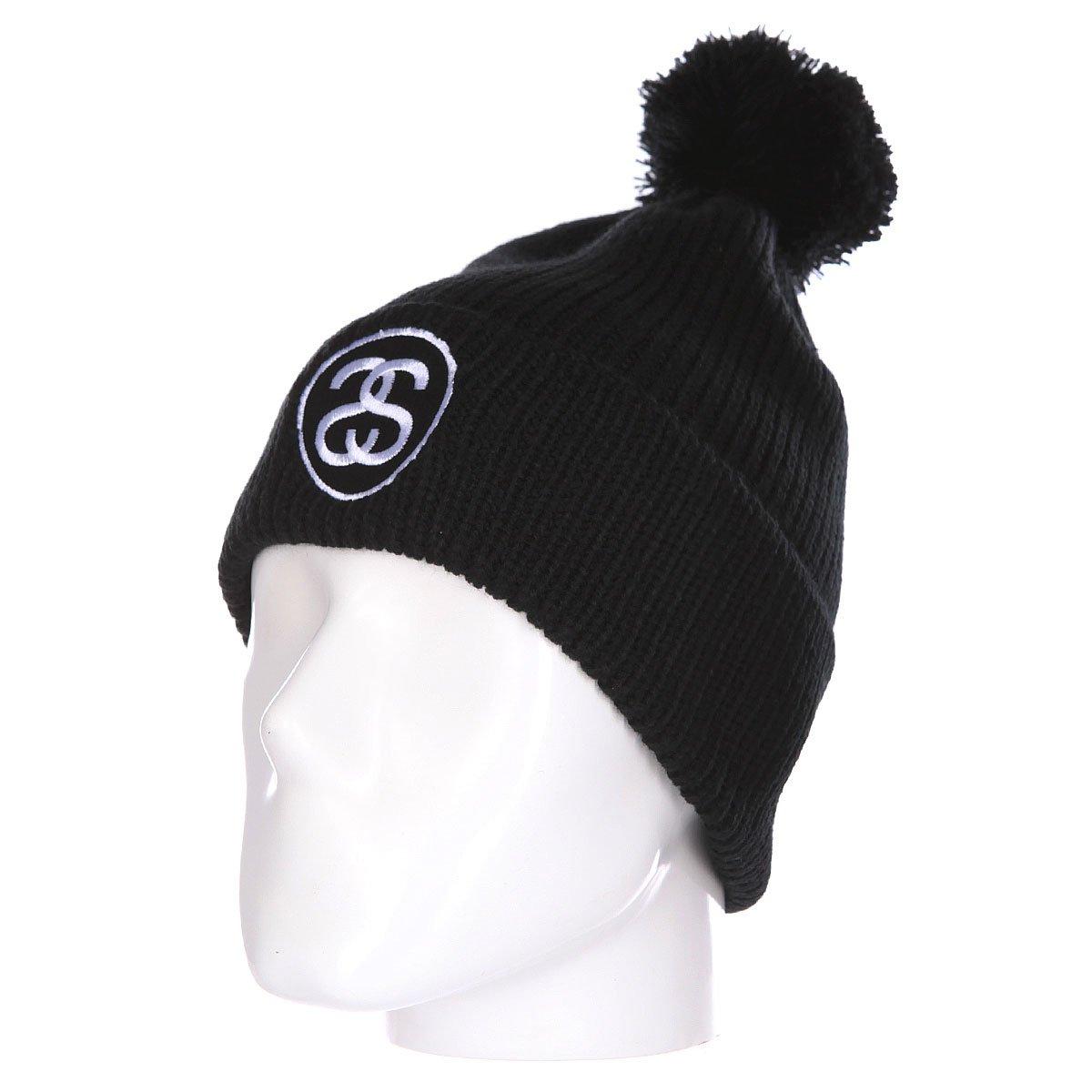 01a183ec91c Купить шапку Stussy Ss-Link Pom Beanie Black в интернет-магазине ...