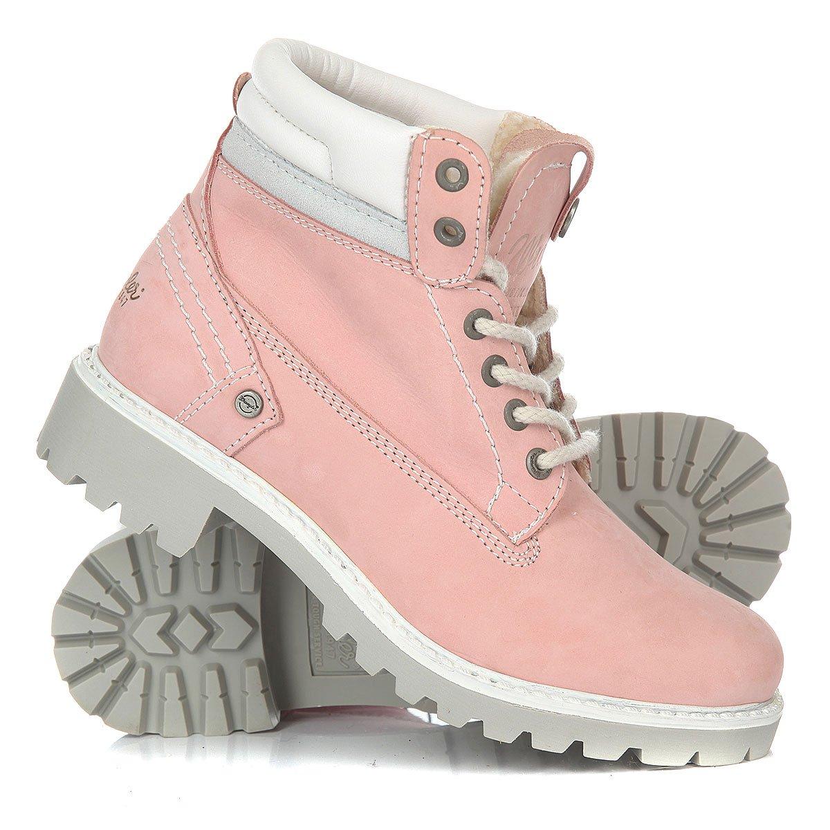 b51c0a2a Купить ботинки зимние женские Wrangler Creek Fur Pink в интернет ...