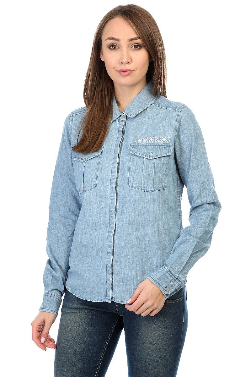 bc1036125eb2093 Купить рубашку женскую Roxy Save Light Blue (ERJWT03062-BFFW) в ...