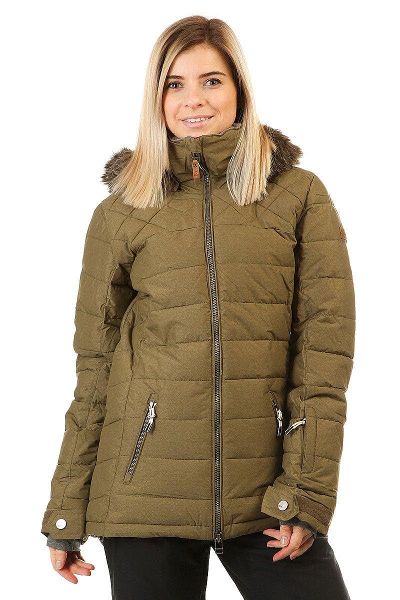 Купить куртку женскую Roxy Quinn Military Olive
