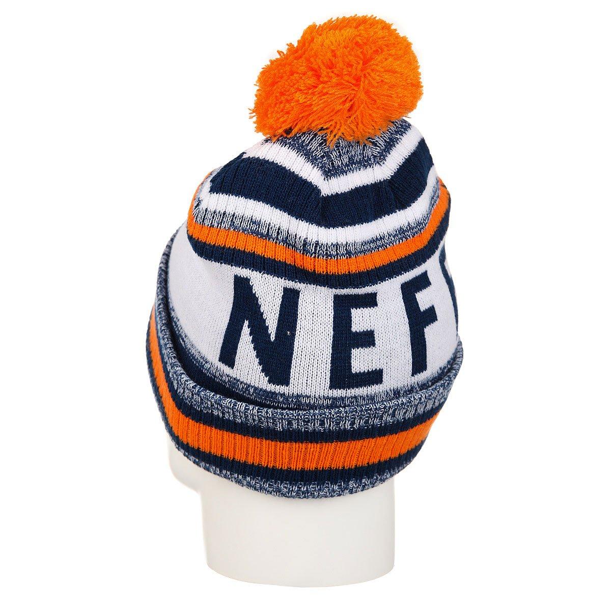 Шапка Neff Champion Beanie Navy/Orange