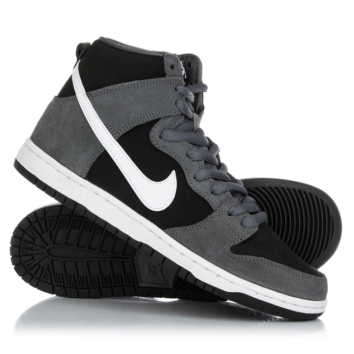 b1cfb23d Купить кеды высокие Nike Sb Zoom Dunk High Pro Dark Grey/White-Black ...