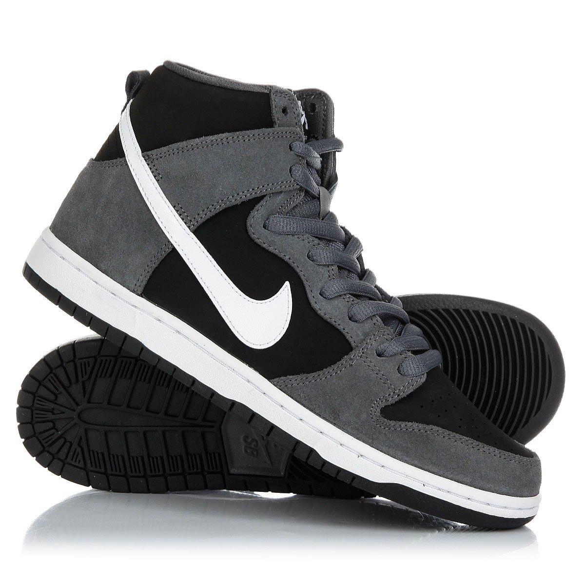 ad0a0c0e Купить кеды высокие Nike Sb Zoom Dunk High Pro Dark Grey/White-Black ...