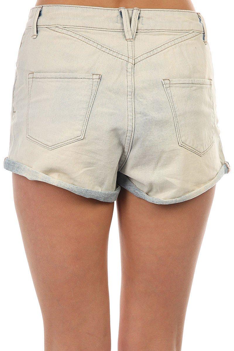 Шорты джинсовые женские Roxy Way Back Bleached Blue