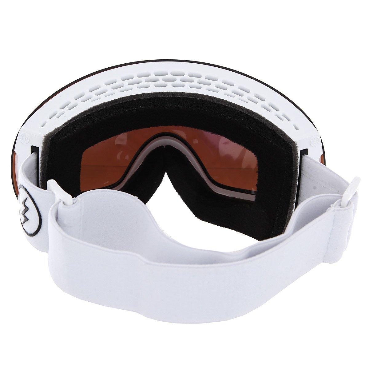 Маска для сноуборда Electric Eg3 Gloss White+Black/Brose/Silver Chrome