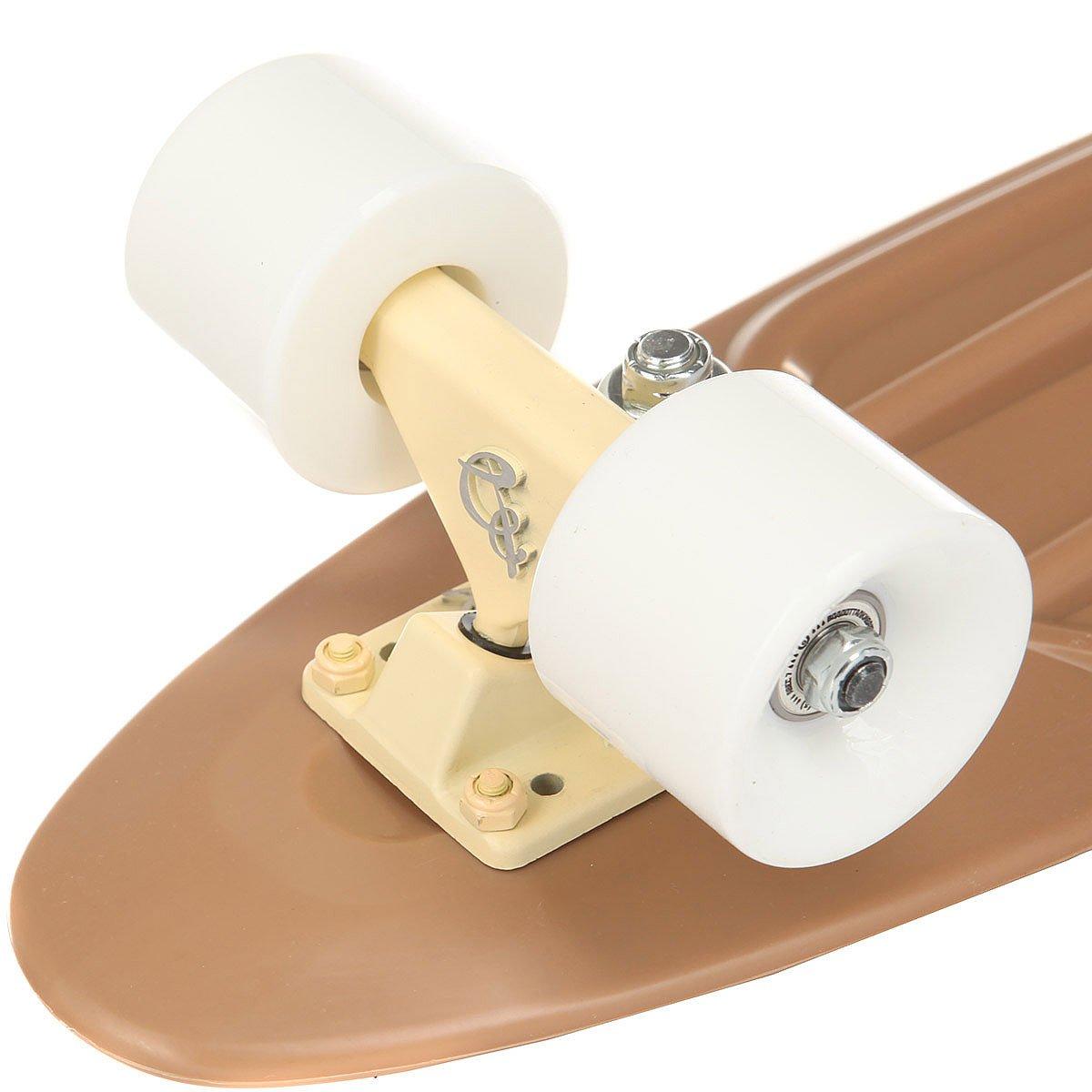 Скейт мини круизер Пластборд Cappuccino Brown  6 x 22.5 (57 см)
