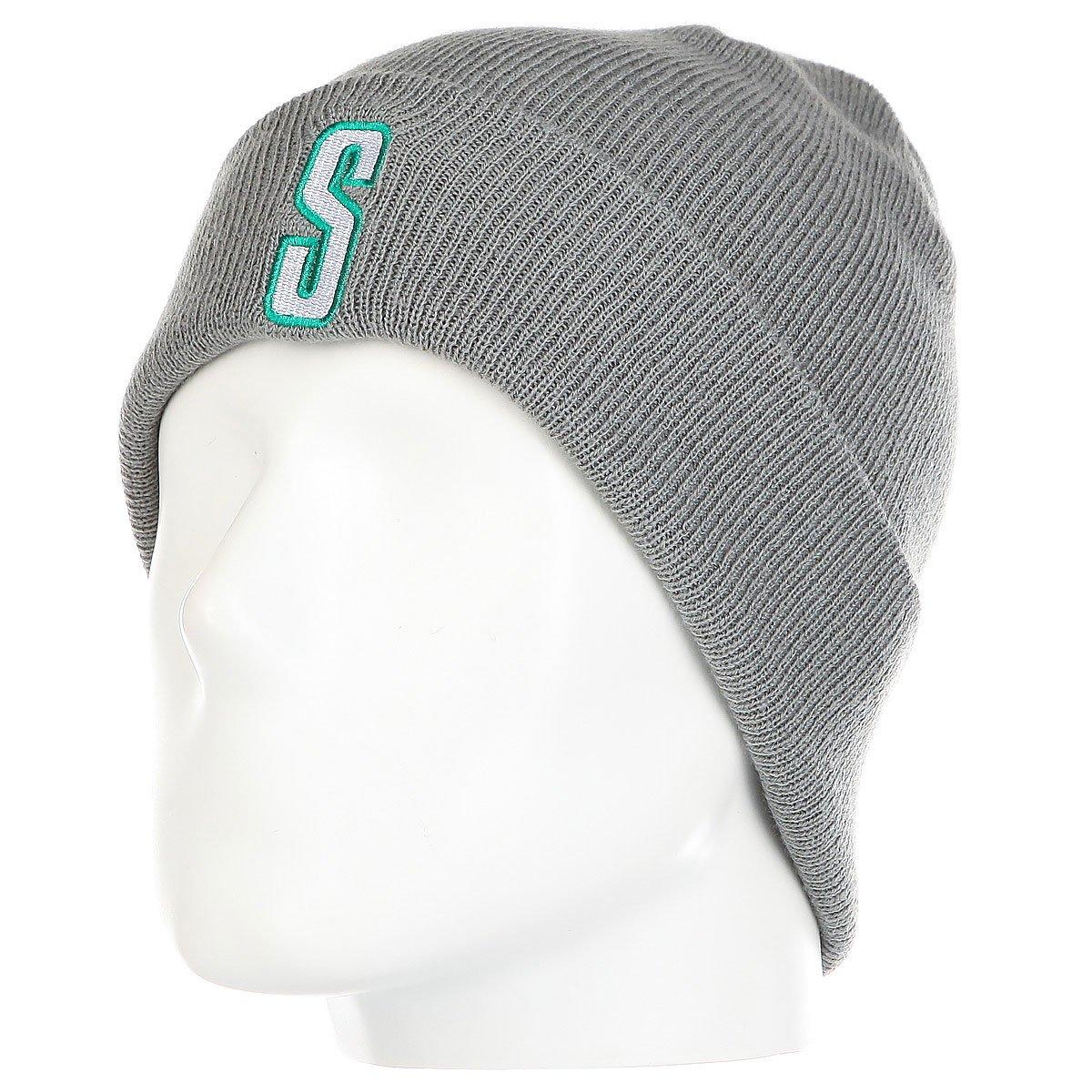1ebb427a917 Купить шапку Stussy Vintage S Cuff Beanie Grey в интернет-магазине ...
