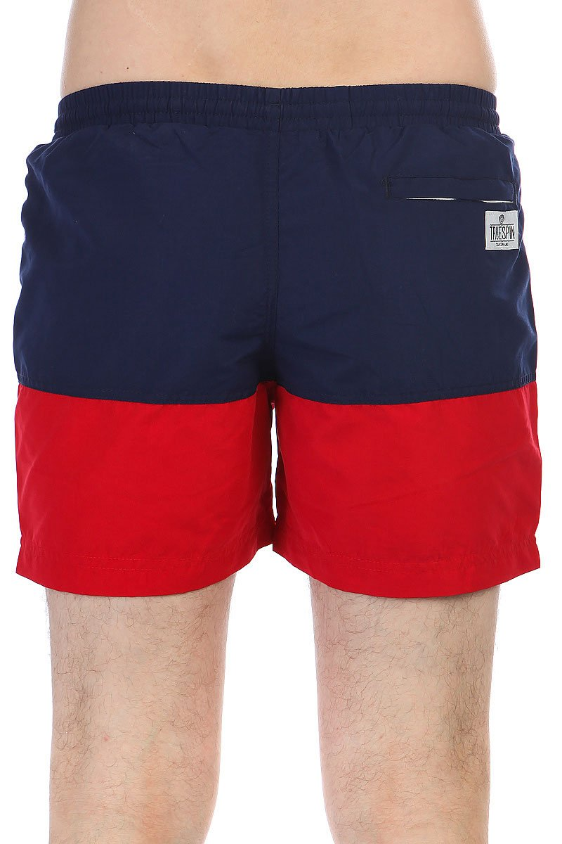 Шорты пляжные TrueSpin Basics Swim Shorts Navy/Red